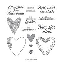 Herzenssache Cling Stamp Set (German)