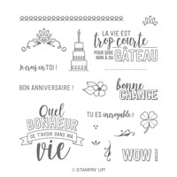 Vie Formidable Photopolymer Stamp Set (French)