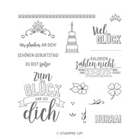 Glücksfälle Photopolymer Stamp Set (German)