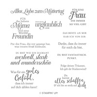 Wie Ein Diamant Cling Stamp Set (German)