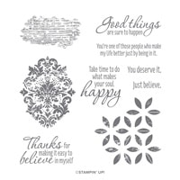 Tasteful Textures Cling Stamp Set