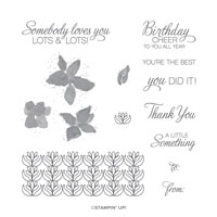 Parcels & Petals Cling Stamp Set (English)