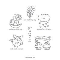 Hoot Hoot Hooray Cling Stamp Set