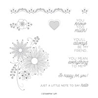 A Little Lace Cling Stamp Set