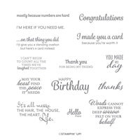 Here's A Card Cling Stamp Set (English)
