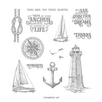 Sailing Home Cling Stamp Set