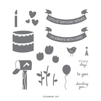Celebrate With Cake Photopolymer Stamp Set