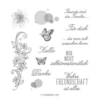 Voller Schönheit Cling Stamp Set (German)