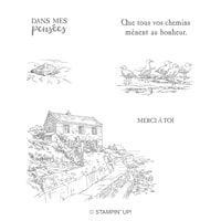 Sur La Baie Cling Stamp Set (French)