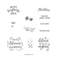 Journée Délicieuse Photopolymer Stamp Set (French)