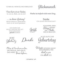 Karte Diem Cling Stamp Set (German)