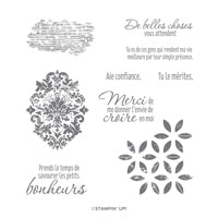 Textures Distinguées Cling Stamp Set (French)