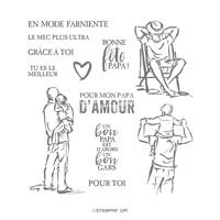 Un Bon Gars Cling Stamp Set (French)