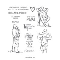 Mannomann Cling Stamp Set (German)