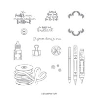 L'art Créateur Cling Stamp Set (French)