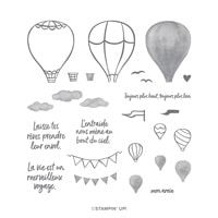 Par-Delà Les Nuages Photopolymer Stamp Set (French)