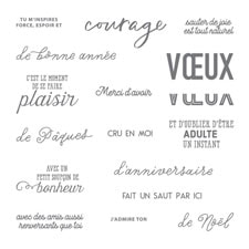 Au-Delà Des Mots Photopolymer Stamp Set (French)