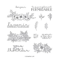 S'épanouir Et Grandir Photopolymer Stamp Set (French)