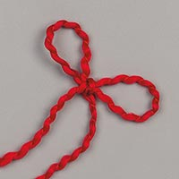 "Real Red 1/8"" (3.2 Mm) Curly Ribbon"