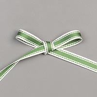 "Garden Green 3/8"" (1 Cm) Double-Stitched Ribbon"