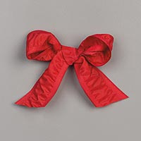 "Real Red 1"" (2.5 Cm) Ruched Ribbon"