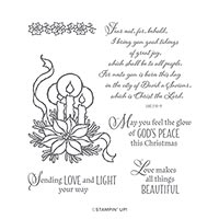 God's Peace Cling Stamp Set (En)