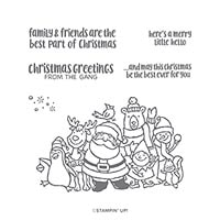 Christmas Crowd Cling Stamp Set
