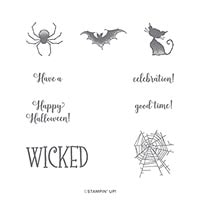 Wonderfully Wicked Cling Stamp Set