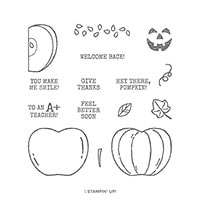 Harvest Hellos Cling Stamp Set (En)