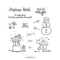 La Neige Prend Vie Photopolymer Stamp Set (Fr)