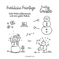 Frostige Grüsse Photopolymer Stamp Set (De)