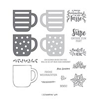 Weihnachtstasse Photopolymer Stamp Set (De)