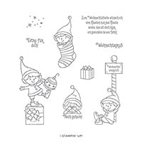 #Weihnachtself Cling Stamp Set (De)