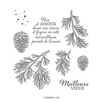 Branches Paisibles Cling Stamp Set (Fr)