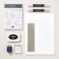 Hey Love Toppers You Can Make It Collection (A4 Cardstock)