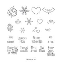 Ode Aux Saisons Photopolymer Stamp Set (Fr)