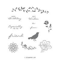 Botanical Bliss Cling-Mount Stamp Set