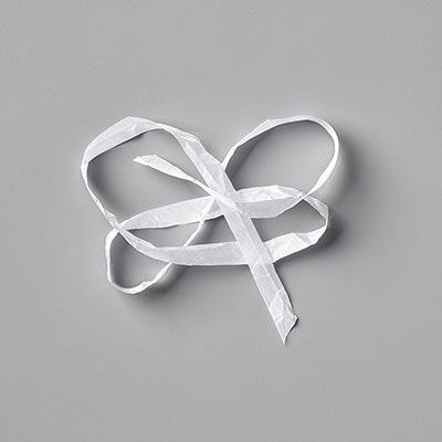 "Whisper White 1/4"" (6.4 Mm) Crinkled Seam Binding Ribbon"