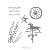 Country Road Cling-Mount Stamp Set