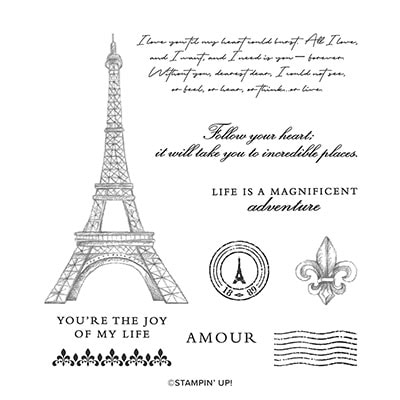 Parisian Beauty Cling Stamp Set (English)