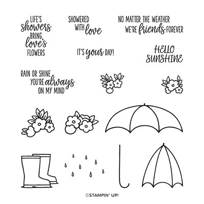 Under My Umbrella Photopolymer Stamp Set (English)