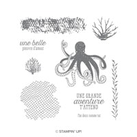 Océan De Textures Cling-Mount Stamp Set (French)