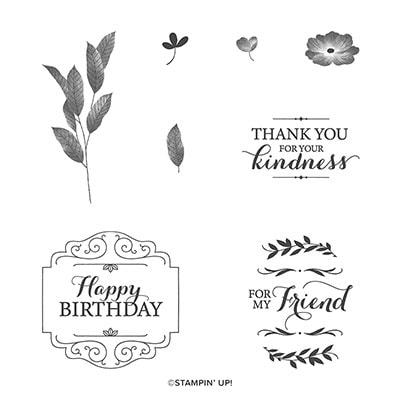 Layered With Kindness Cling Stamp Set (English)