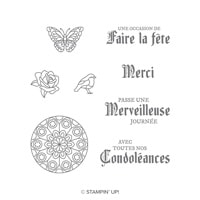 Vitrail Cling-Mount Stamp Set (French)