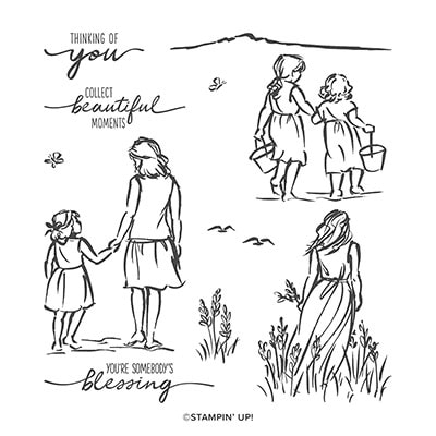 Beautiful Moments Cling Stamp Set