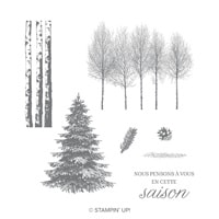 Bois Hivernaux Cling-Mount Stamp Set (French)