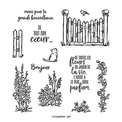Jardin De Grâce Photopolymer Stamp Set (French)