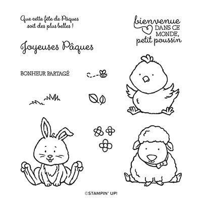 Bienvenue À Pâques Cling Stamp Set (French)