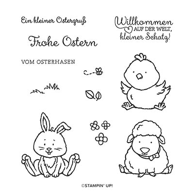 Osterschatz Cling Stamp Set (German)