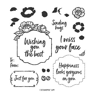 Tags In Bloom Photopolymer Stamp Set (English)